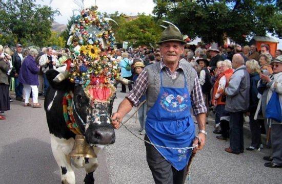 Almabtrieb – Bauernfest in Meransen am 28.09.2019