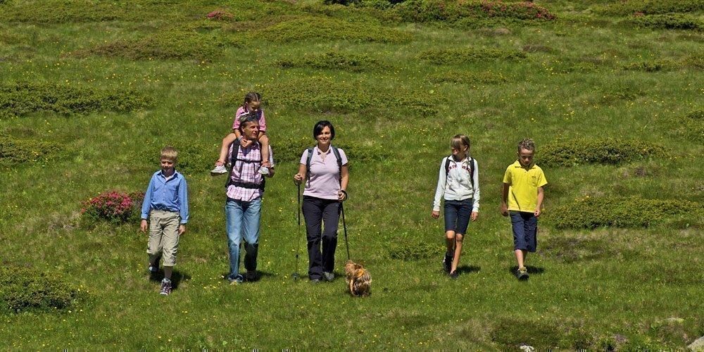 Nordic Walking auf dem Meranser Hochplateau