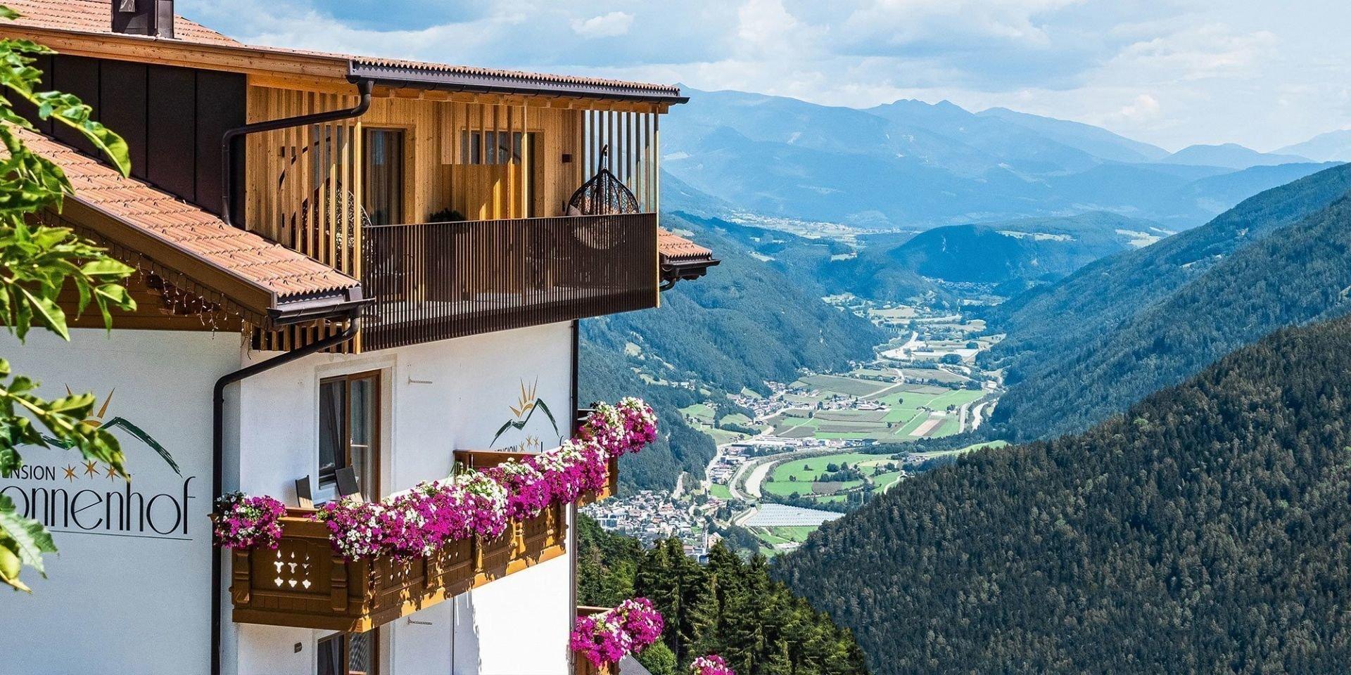 So einen herrlichen Ausblick genießen Sie nur in Meransen in Südtirol
