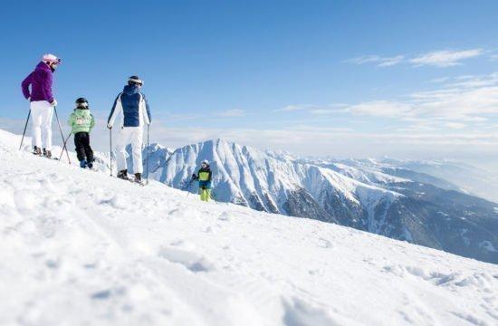 Skifahren-Familie