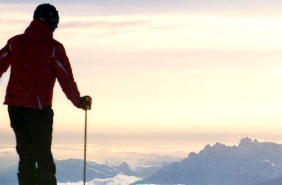 Skifahren-Panorama