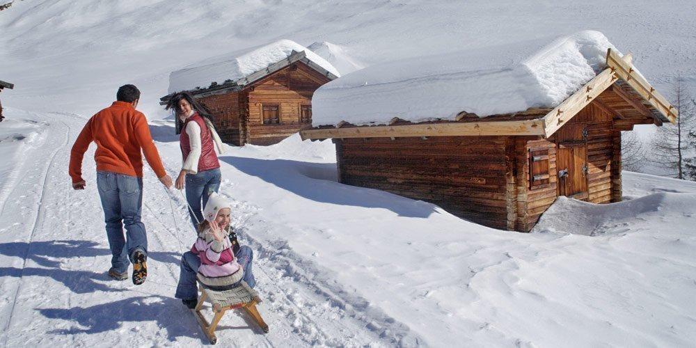 Winterlicher Frezeitspaß auf dem Meranser Hochplateau